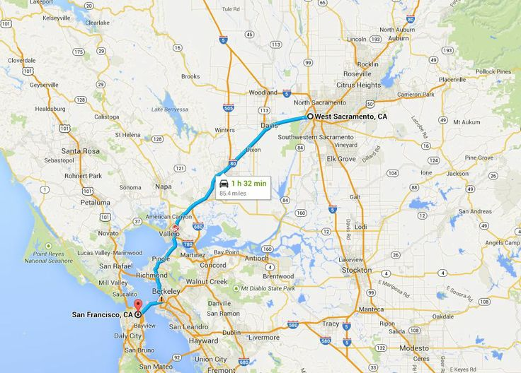 drive distance from dublin sacramento