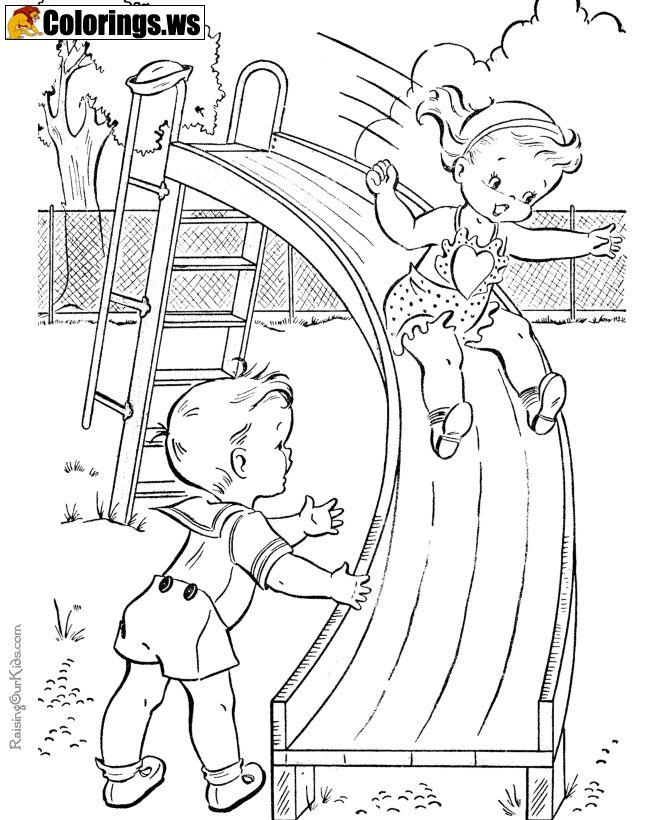 Playground 03 Playground Coloring Pages What Is Playground A
