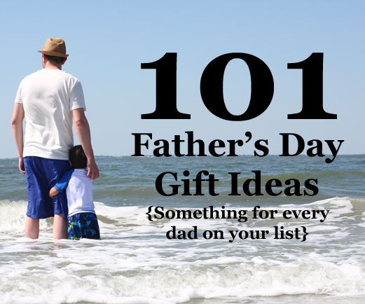 List of Father's Day gift ideas. Guys really are hard to shop for some times...