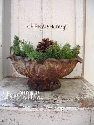 Love this...I do this to my urns as well and when the snow falls - magical!