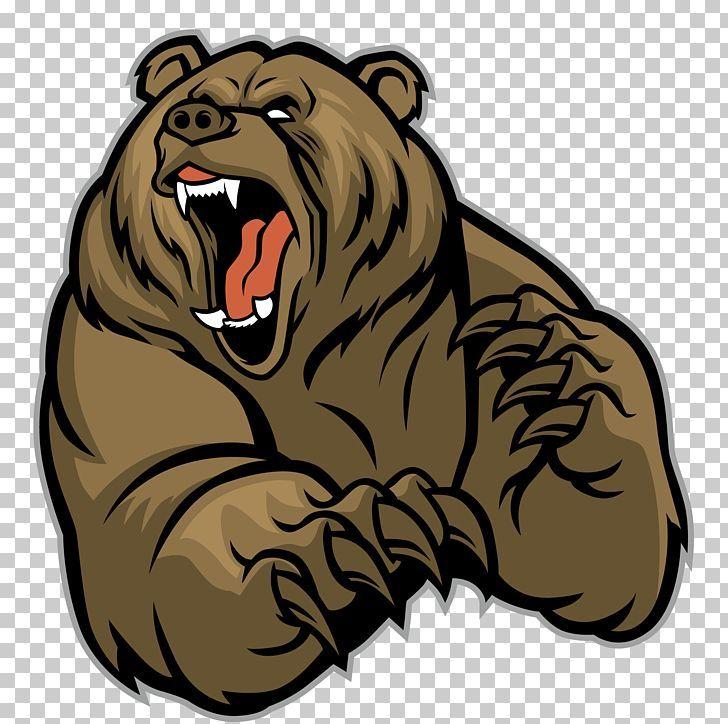 Grizzly Bear Sticker Design Element Free Image By Rawpixel Com Noon Grizzly Bear Design Element Sticker Design