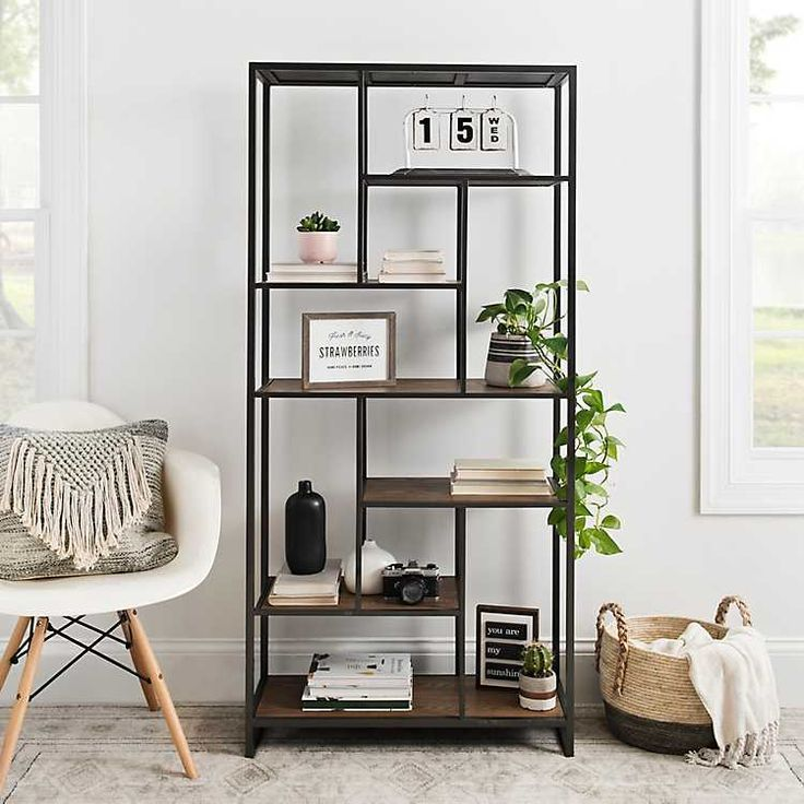 Kirkland's | Bookshelves in living room, Metal living room ...