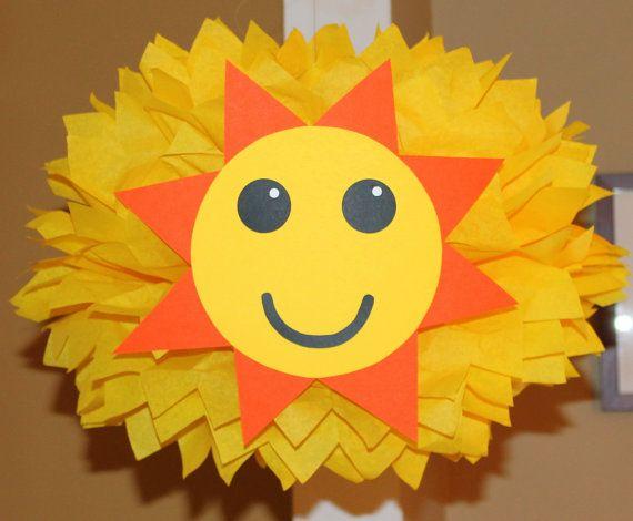 Sun tissue paper pom pom kit  Sun shine you are my sunshine beach weather under the sea ocean decoration