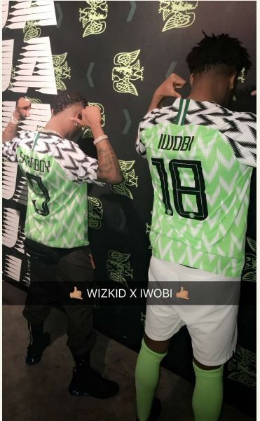 News In Pictures: Super Eagles Unveil New Jersey With Wizkid And Alex Iwobi