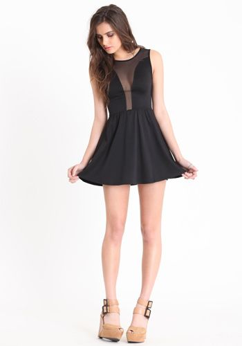OH my this is too pretty <3: Little Dresses, Outfits Hey, Black Mesh, Fashion Style, Cute Dresses, Little Black Dresses, The Dresses, Skater Dresses, Pretty