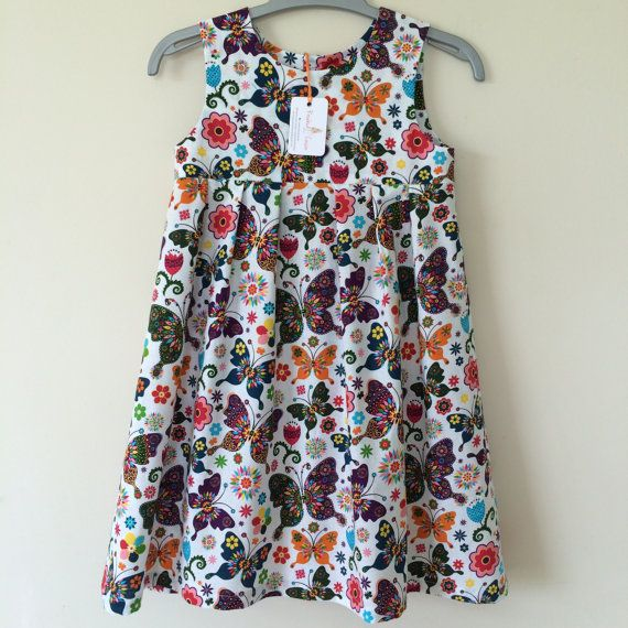 Butterfly summer dress / sleeveless dress / by RosebudandCassie