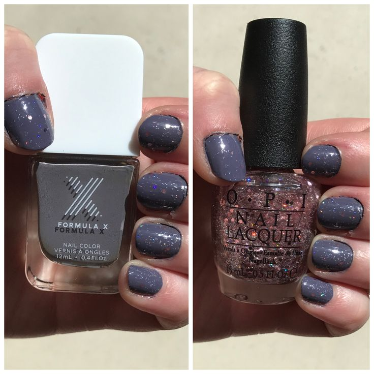 Formula X Gray Matter with OPI You Pink Too Much