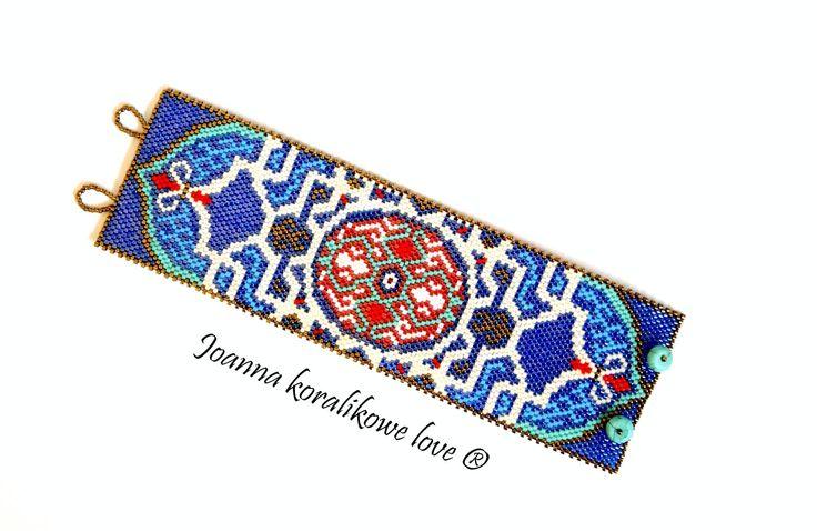 Marrakesz Bracelet beaded jewelry peyote Bransoleta
