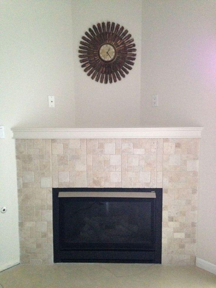 Corner gas fireplace makeover corner gas fireplace Corner fireplace makeover ideas