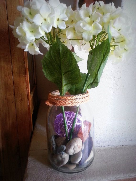 Mason Vase by Saradonnapurple, €16.43 What do u think of this vase?xhttp://www.etsy.com/listing/155002270/mason-vase-white-flower-vase-dusty?share_id=15430435=bf40f9e27f6c0660c38bf7ac16935be7f9591237_source=Pinterest_medium=PageTools_campaign=Share