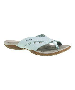 Egg shell blue Merrell flip flops for women #sale