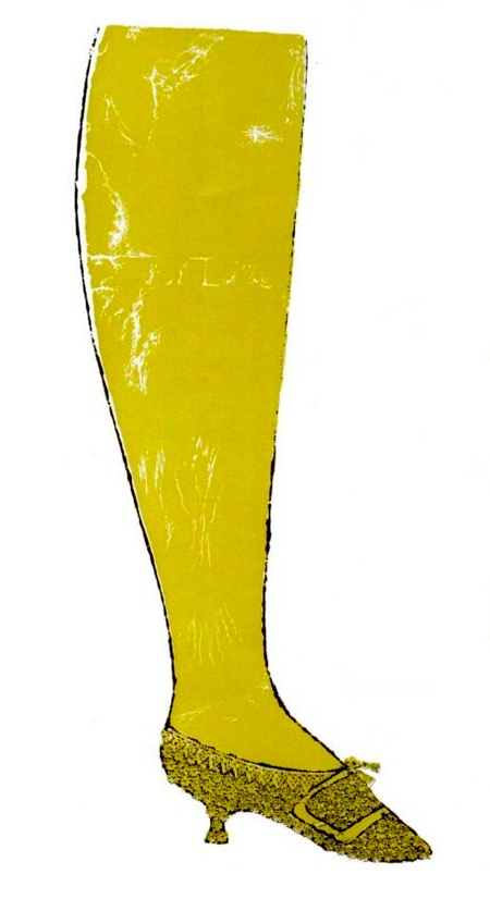 Warhol 1957 The Golden Slippers on LIFE magazine