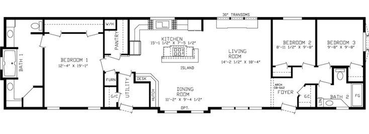 The Grand Haven | A1 Homes #Modularhome #Mobilehome #Floorplan
