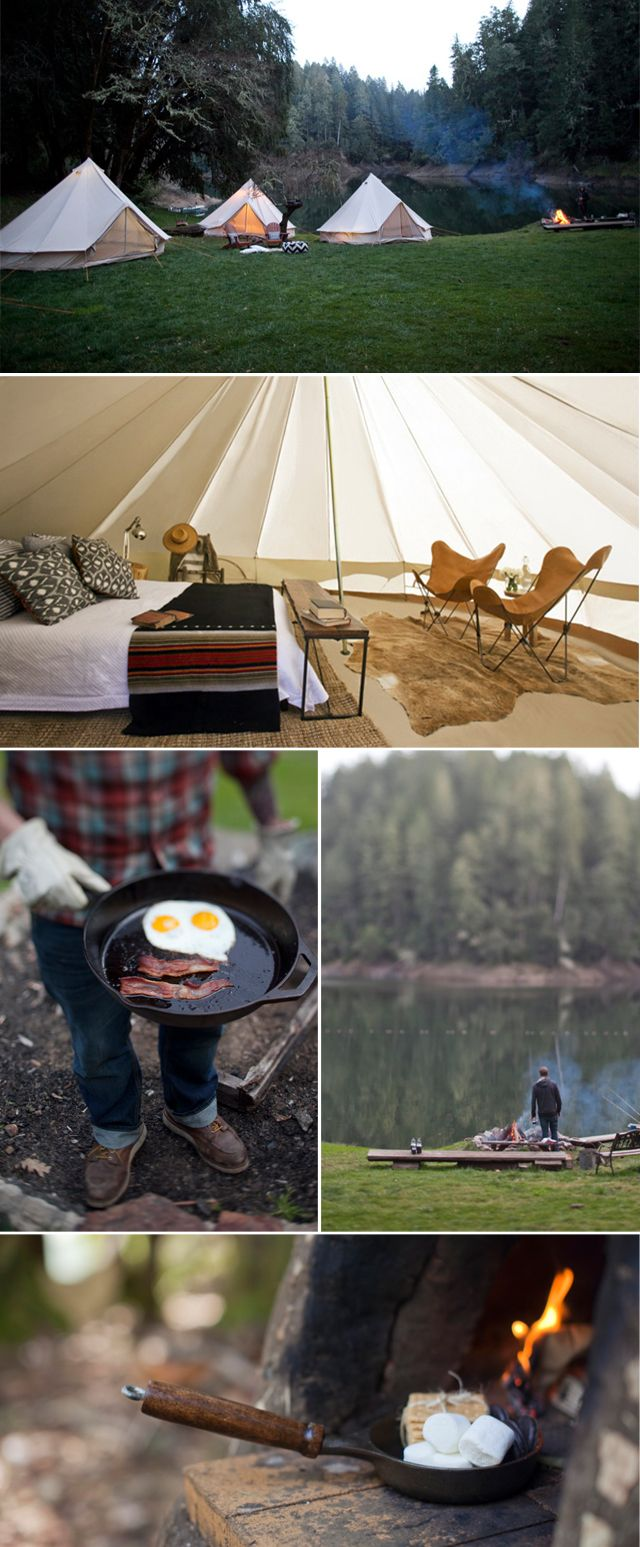Sweet Thing: GIMME SHELTER  Shelter & Co camping set up