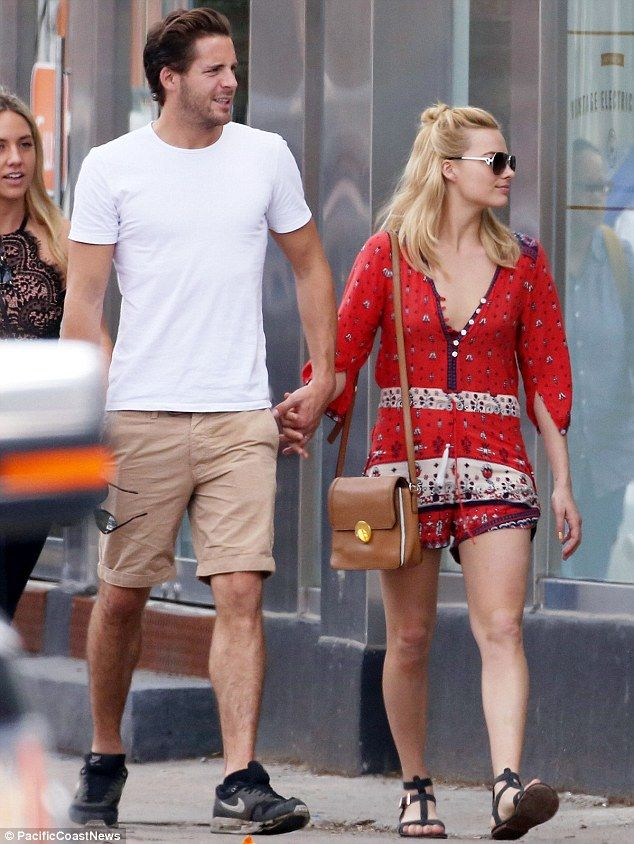 Hand-in-hand:Margot's budding romance with Tom, who attended Godalming College, began last year after the pair met while working together on Suite Francaise, which also stars Michelle Williams