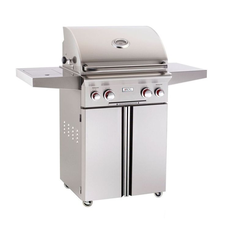 American Outdoor Grill 24 inch T Series Stand Alone Gas Grill W/ Rotisserie & Single Side Burner (Gas Grill), Grey