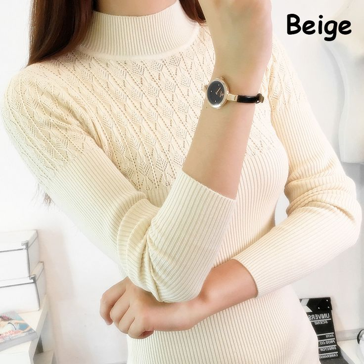 2016 Autumn Winter Women Sweaters and Pullovers Turtleneck Long Sleeve Sexy Slim Knitting Sueter Mujer Pull Femme Maglioni Donna aliexpress.com
