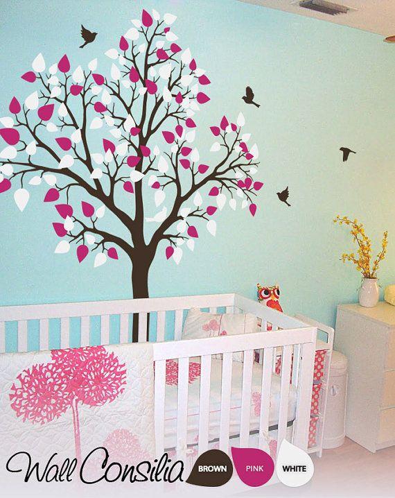 baby nursery tree wall decal wall sticker tree wall fairy folk enchanted tree nursery wall art stickers