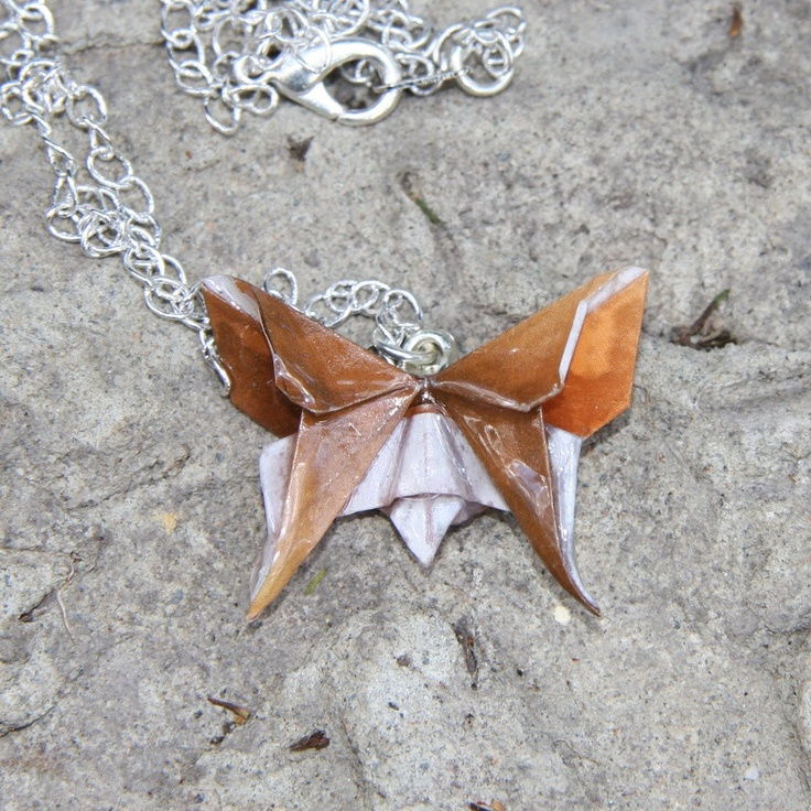 Origami Butterfly Pendant by JojiCreations on Etsy