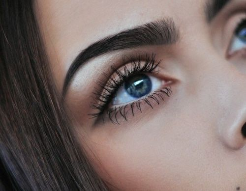 makeup for blue eyes + perfect eyebrows