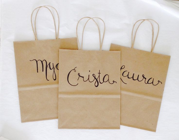 Wedding Weekend Gift Bag Ideas : Bridesmaid Gift Bag ~ Bridal Party Gift Bag ~ Bachelorette Party Name ...
