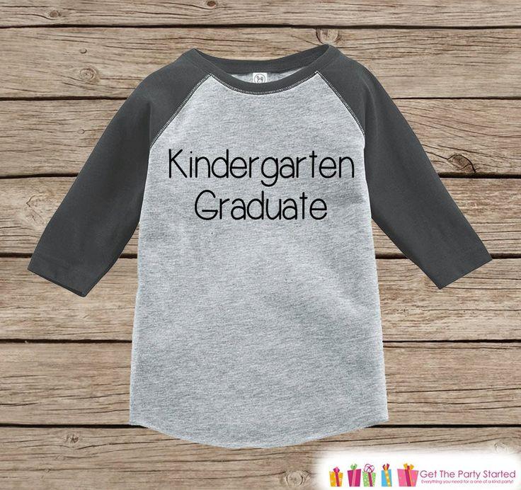 Kindergarten Outfit - Grey Raglan Kindergarten Graduation Outfit - Kids Kindergarten Graduate - Last Day of School Outfit - Girl or Boy Top
