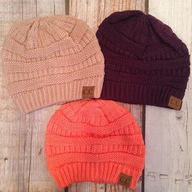 C.C.Knit hats are back! $14.99 each or 2 for $27. ▪️Top Row: Rose & Eggplant ▪️〰〰〰〰〰〰〰〰▪️Bottom Row: Bright Coral▪️ To purchase please comment with your email address, the color you want and your state.  We will then send you a secure checkout link.  Limited quantities available!  #stockingstuffer #boutique #ccknits #cchats #royalravenboutique #ccknithats #instashop #itscoldoutside #winteriscoming #christmasideas #giftideas #womensaccessories #contemporary #womensapparel #newcolors #coral…