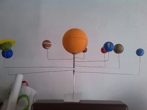 Fabricación de planetario o sistema solar barato y fácil. Mas detalles en http://cienciastronomiauniversal.blogspot.com.es/2014/03/construir-un-planetario-o-...