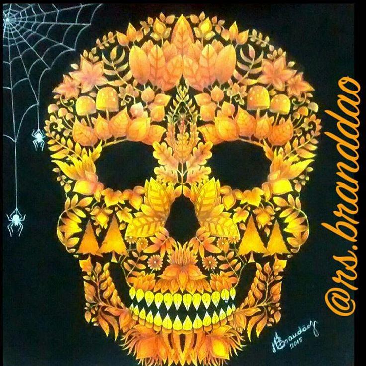 Pintura Halloween Finalizada Florestaencantadatop Desafioscoloridos Amocolorir Terapianojardim Florestaencantada Brasil