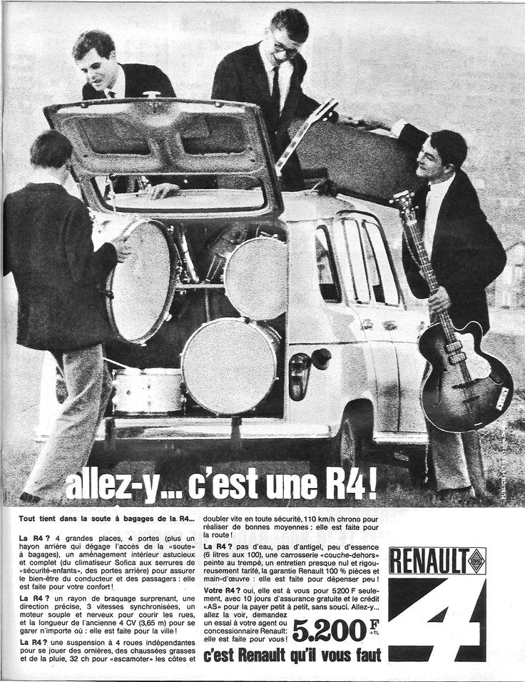 Tout tient dans la soute à bagages de la R4 (Renault 4). Paris Match, 9 mai 1964