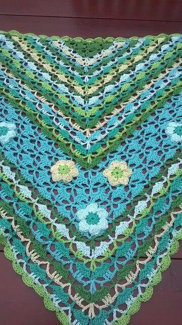 Blije kleuren sjaal
