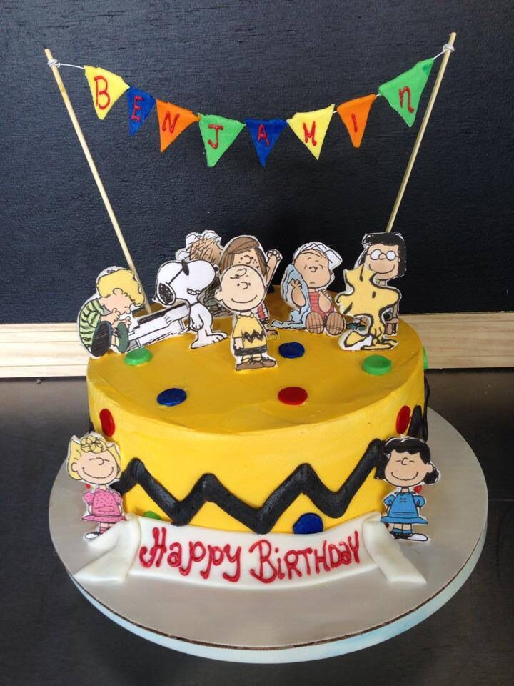 Benjamin's cake! Charlie Brown, Peanuts. Style by the