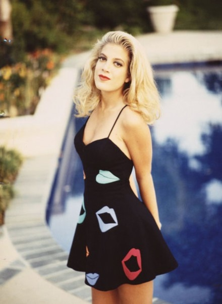 Tori Spelling as Donna Martin on Beverly Hills 90210