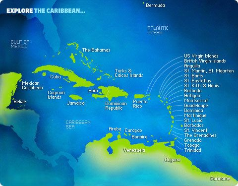 11 best images about maps of carribean on pinterest for Tropical vacation places in the us