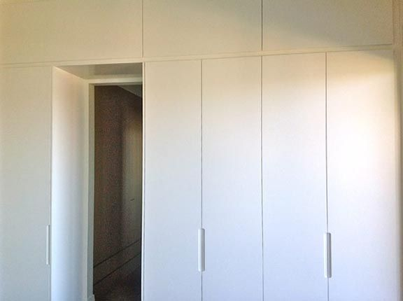 Wardrobe with overhead cabinets