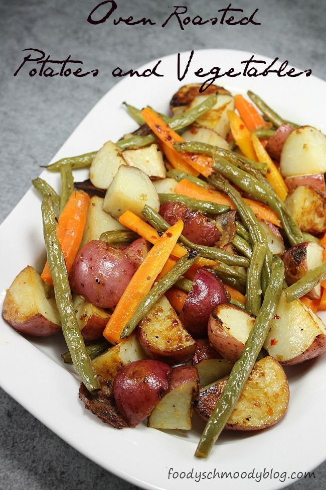 Potatoes, carrots, green beans & zesty Italian dressing:)