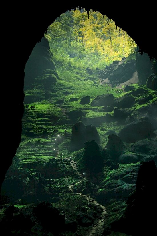 Son Doong cave in Vietnam is believed to be the largest cave in the world