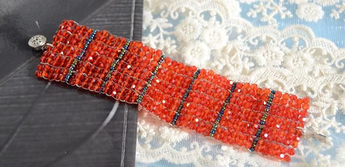 Like this Beaded Ladder Stitch Bracelet, LC.Pandahall.com will show you tutorial video,