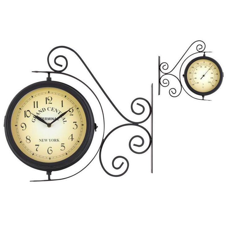 Ρολόι Τοίχου Σταθμ.Μεταλ Μαύρο, Τιμή: €23,30, http://www.lovedeco.gr/p.Roloi-Toichou-Stathm-Metal-Mayro.853114.html