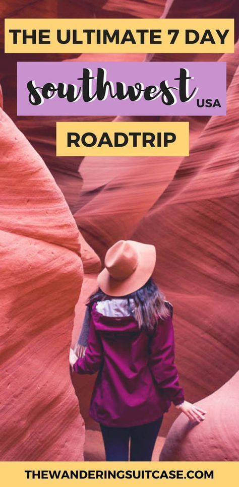 7 day itinerary for southwest USA   Arizona   Utah   South West   Nevada   Grand Canyon   Antelope Canyon   Monument Valley   USA roadtrips   Iconic America   #roadtripUSA via @wanderingsuitca