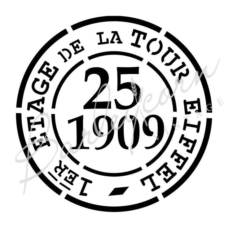 Vintage French Stamp Stencil #barleycornvintagestencils #mylar #paintedfurniturestencils #madeinaustralia #frenchstencil