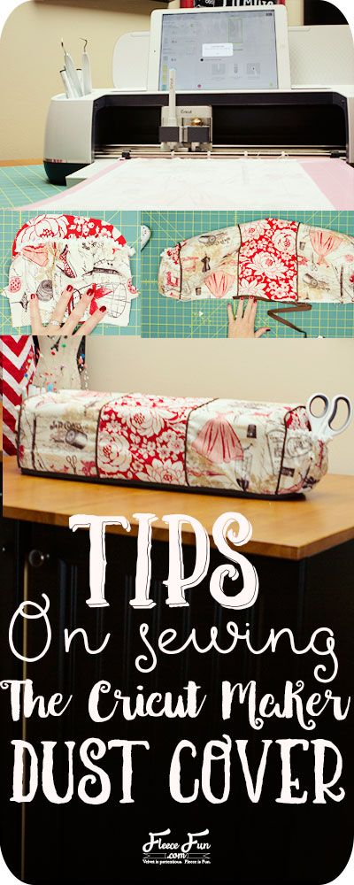 I love this handy tips guide for the Cricut Maker Dust Cover!  So many handy tips and tricks for this sewing project.