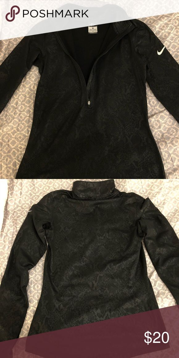 Nike Pro Dri Fit 1/2 Zip Compression Jacket Size Medium Nike Pro Dri Fit Half Zip Jacket. Black. Nike Tops Sweatshirts & Hoodies