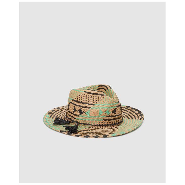 Chapeau Fedora Far En Papier À Motif Ethnique – Taille : Taille Unique