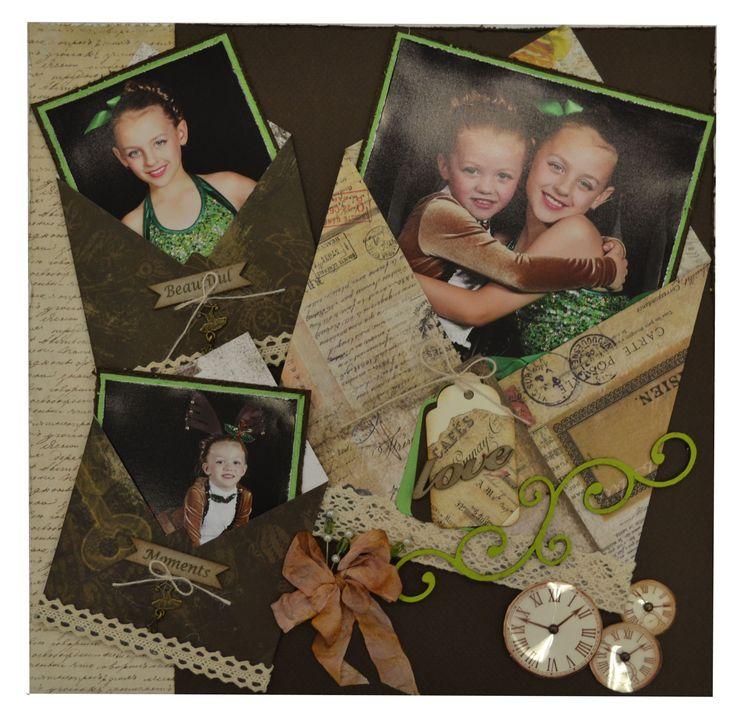 Envelope scrapbook page
