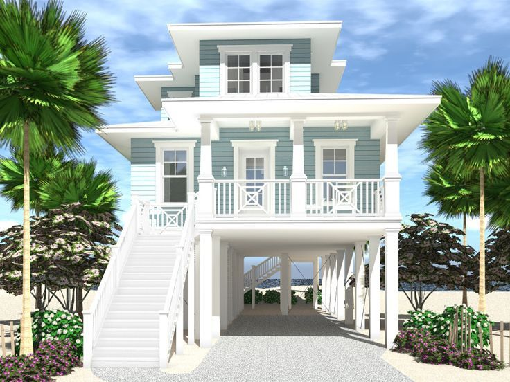 052H-0131: Small House Plan Designed for an Oceanfront View ...