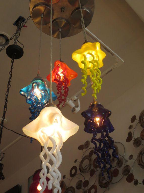 158 best Blown Glass Chandeliers images on Pinterest | Blown glass ...