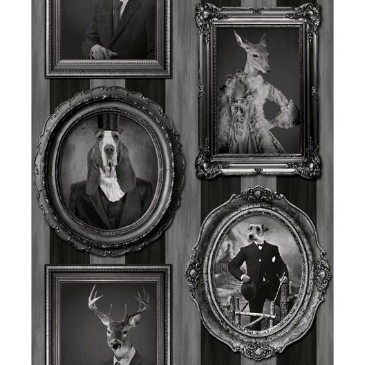 papier peint vinyle sur intiss cadres animaux noir on the wall pinterest animaux and ps. Black Bedroom Furniture Sets. Home Design Ideas