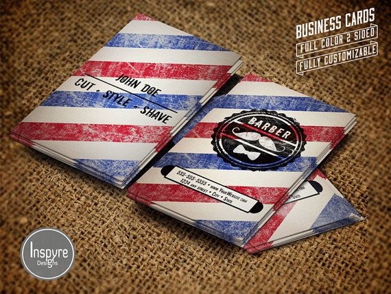 #Barber Shop Business Card by Inspyre Designs on Etsy. #barbershop #businesscard