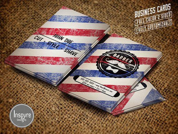 Barber Shop Business Card by InspyreDesign on Etsy